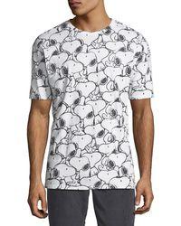 6db565c06942 ELEVEN PARIS - Men's Seanum Peanuts Snoopy Graphic T-shirt - Lyst