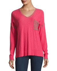 Belford - Long-sleeve Slouchy Striped-back Top - Lyst