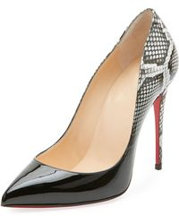 86f1f553d013 Christian Louboutin - Pigalle Follies Ombre Snake-print Red Sole Pump - Lyst
