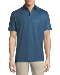 Peter Millar - Snow Star-printed Jersey Polo Shirt - Lyst