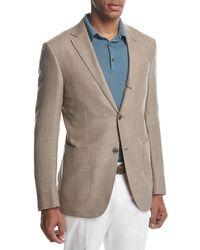 Ermenegildo Zegna - Three-button Wool-silk-linen Blazer - Lyst