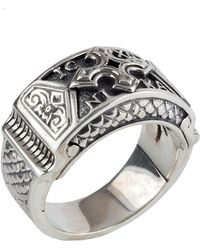 Konstantino - Men's Sterling Silver Christogram Cross Ring - Lyst