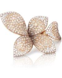 Pasquale Bruni - Giardini Segreti 18k Rose Gold Diamond Leaf Ring, 4.35 Cts, Size 6.5 - Lyst