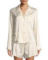 Morgan Lane - Ruthie Marle-striped Pajama Top - Lyst
