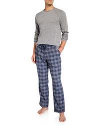 UGG Men's Steiner Pyjama Set Gift Box - Blue