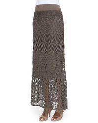 XCVI - Cecilia Crochet Skirt - Lyst