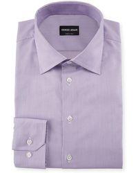 Giorgio Armani - Micro-structure Dress Shirt - Lyst