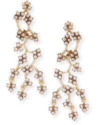 Lulu Frost Jackie Web Dangling Earrings - Metallic