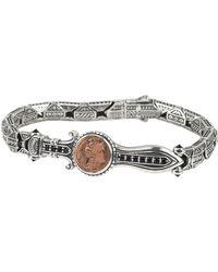 Konstantino - Men's Sterling Silver & Copper Bracelet W/spinel - Lyst