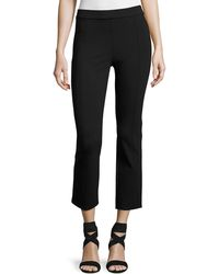 Tory Burch - Stacey Ponte Cropped Pants - Lyst