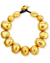 Viktoria Hayman Freeform Gold Foil Bauble Necklace - Metallic