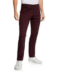 Theory Men's Tech Raffi Compact Ponte Pants - Red