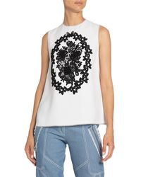 Andrew Gn - Floral-applique Sleeveless Top - Lyst
