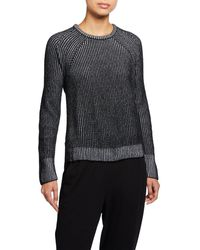 Eileen Fisher Ribbed Organic Cotton Sweater - Black