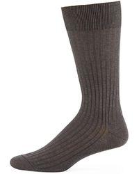 Pantherella - Mid-calf Stretch-lisle Dress Socks - Lyst