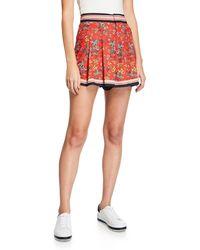 Alice + Olivia Scarlet High-waist Flutter Shorts - Red