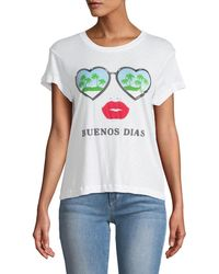 Wildfox - Buenos Dias Graphic Cotton Tee - Lyst