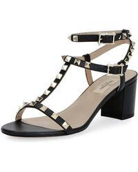 Valentino | Rockstud T-strap 60mm Sandal | Lyst