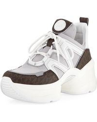 5b2c5a571d Lyst - MICHAEL Michael Kors Kyle Hiker Leather High-top Trainers in ...