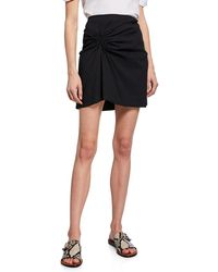 A.L.C. Burke Ruched Mini Skirt - Black