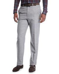 Brioni - Men's Flat-front Wool Trousers - Lyst