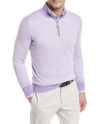 Peter Millar - Crown Soft Birdseye Sweater - Lyst