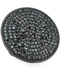 Nest - Adjustable Pave Disc Ring - Lyst