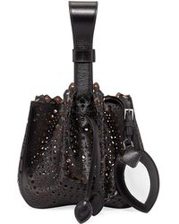 Alaïa Rose Marie Small Bucket Bag - Black
