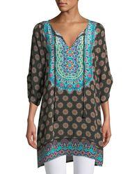 Tolani - Sanaya Medallion-print Easy Tunic/dress - Lyst