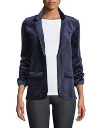 Neiman Marcus - Single-breasted Velour Blazer Jacket - Lyst