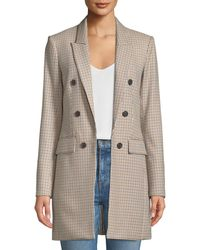 Veronica Beard - Liss Hook-front Double-breasted Jacket - Lyst