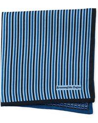 Ermenegildo Zegna - Reversible 3d Box Silk Pocket Square - Lyst