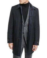 Canali - Reversible Button-front Coat - Lyst