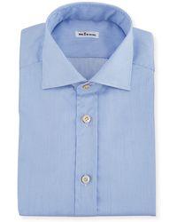 Kiton - Men's Needle-stripe Barrel-cuff Dress Shirt - Lyst