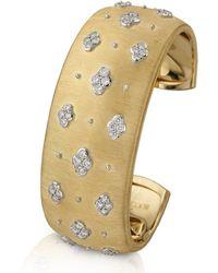 Buccellati Macri Ab 18k Yellow Gold Diamond Cuff - Metallic