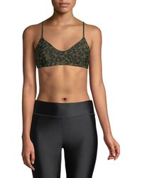 The Upside - Zoe Leopard-camo Sports Bra - Lyst