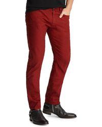 John Varvatos - Men's Chelsea-fit Garment-dyed Denim Jeans - Lyst