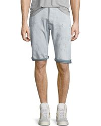 G-Star RAW - Arc 3d Bleached Wash Shorts With Distressing - Lyst