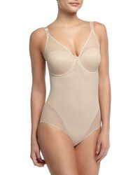 Tc Fine Intimates - Sheer Body Briefer Bodysuit - Lyst