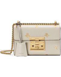 27fb2e991 Gucci - Padlock Mini Bee & Star Shoulder Bag - Lyst
