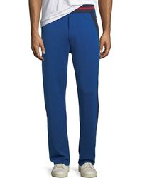 Iceberg - Men's Side-stripe Logo Track Pants - Lyst