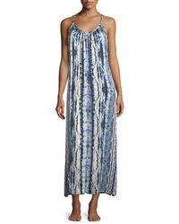 Neiman Marcus | Tie-dye Racerback Silk Long Nightgown | Lyst
