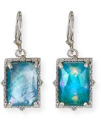 Armenta New World Hematite/quartz Doublet Drop Earrings - Gray