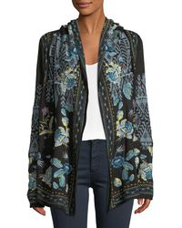 Johnny Was - Beiro Hooded Floral-embroidered Cardigan - Lyst
