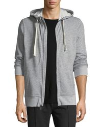 2xist - Heathered-knit Zip-front Sweatshirt - Lyst