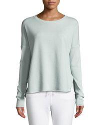 Frank & Eileen - Long-sleeve High-low Cotton Fleece Sweatshirt - Lyst
