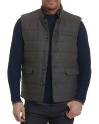 Robert Graham - Valley Quilted Wool-blend Vest - Lyst