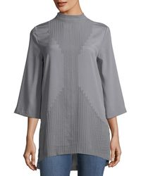 Quinn - Mock-neck Embellished Blouse - Lyst