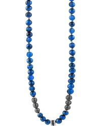 Tateossian - Formentera Sterling Silver & Sodalite Beaded Necklace - Lyst