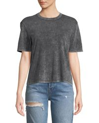 Splendid - Outpost Mineral Wash Short-sleeve Cropped Tee - Lyst